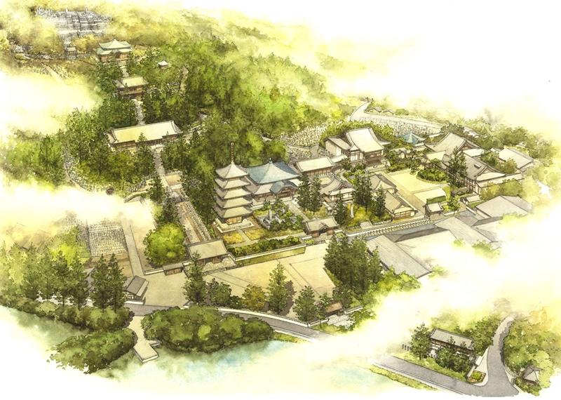 仏生山法然寺全体図