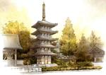 仏生山法然寺五重塔
